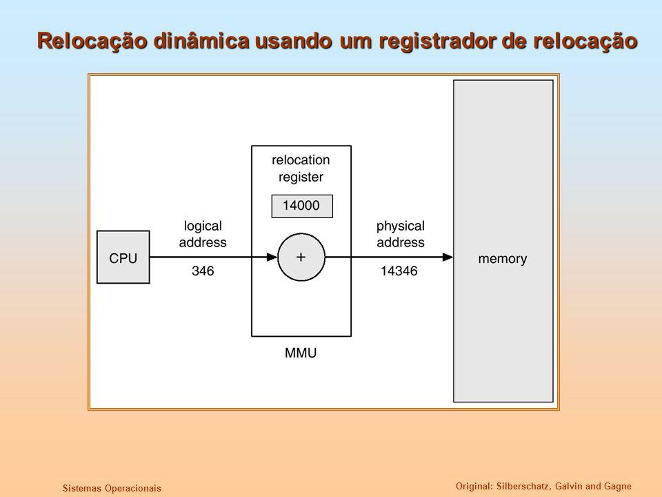 Relocação dinâmica usando um registrador de relocação