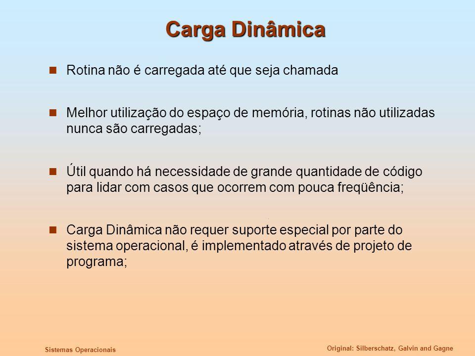 Carga Dinâmica Rotina não é carregada até que seja chamada
