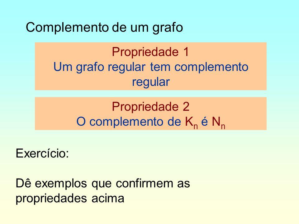 Um grafo regular tem complemento regular
