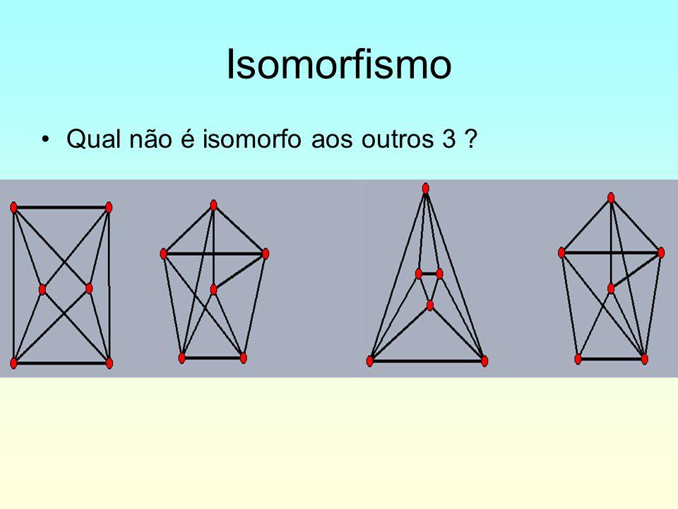 Isomorfismo Qual não é isomorfo aos outros 3