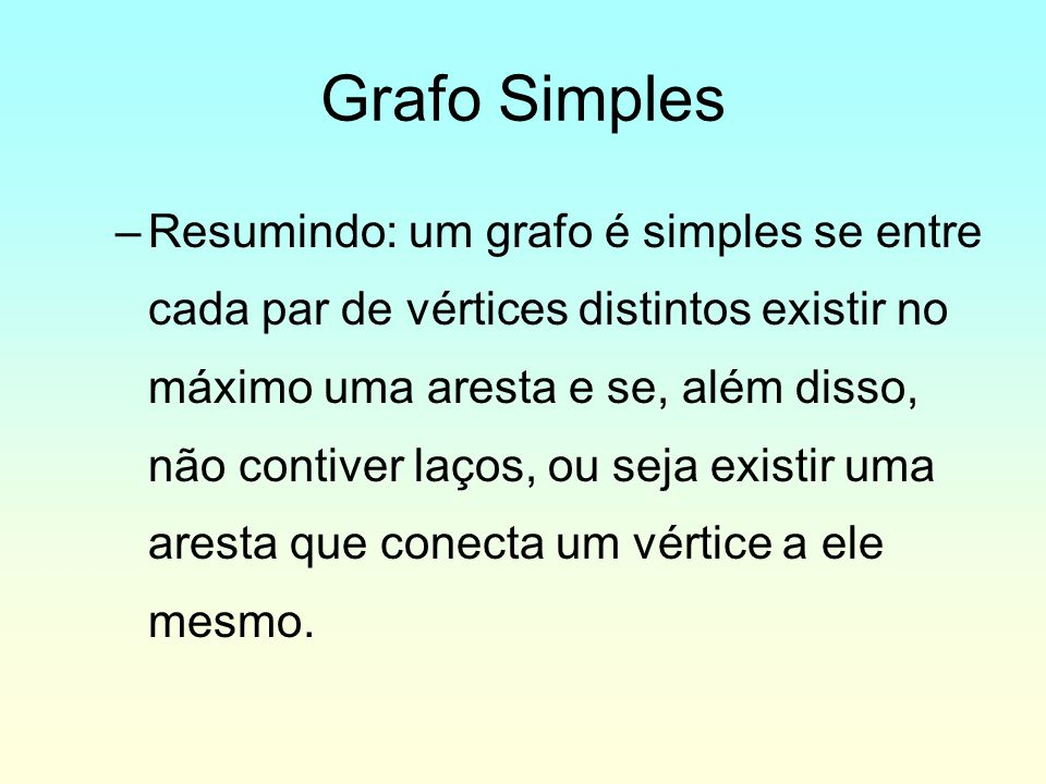Grafo Simples