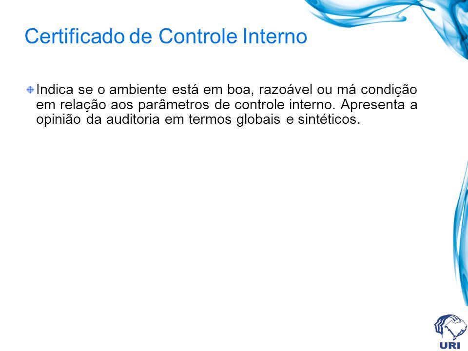 Certificado de Controle Interno