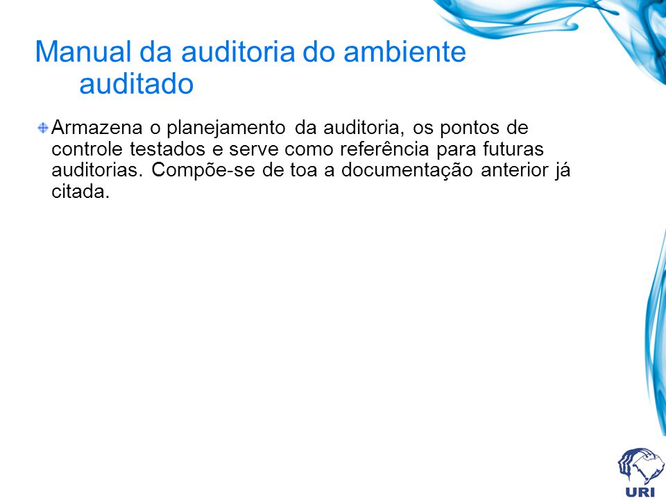 Manual da auditoria do ambiente auditado