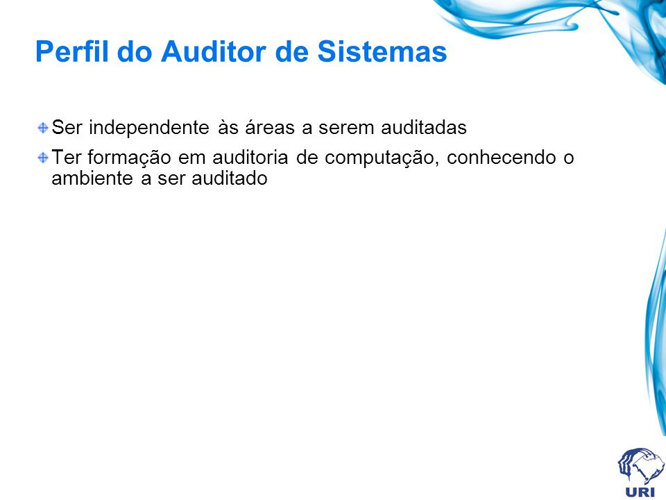 Perfil do Auditor de Sistemas