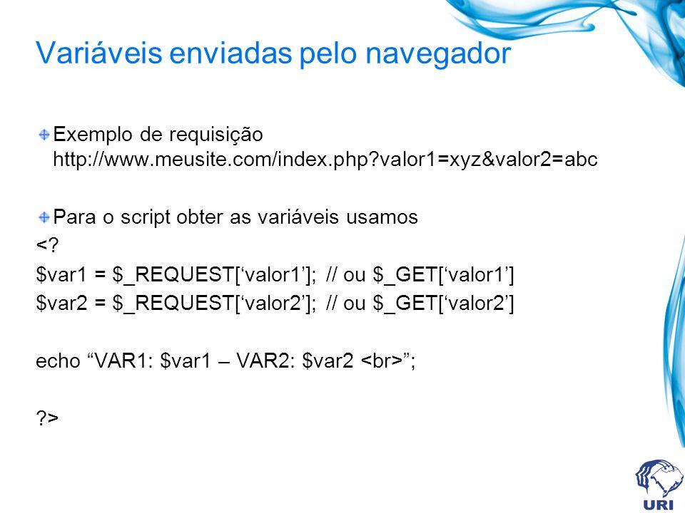 Variáveis enviadas pelo navegador