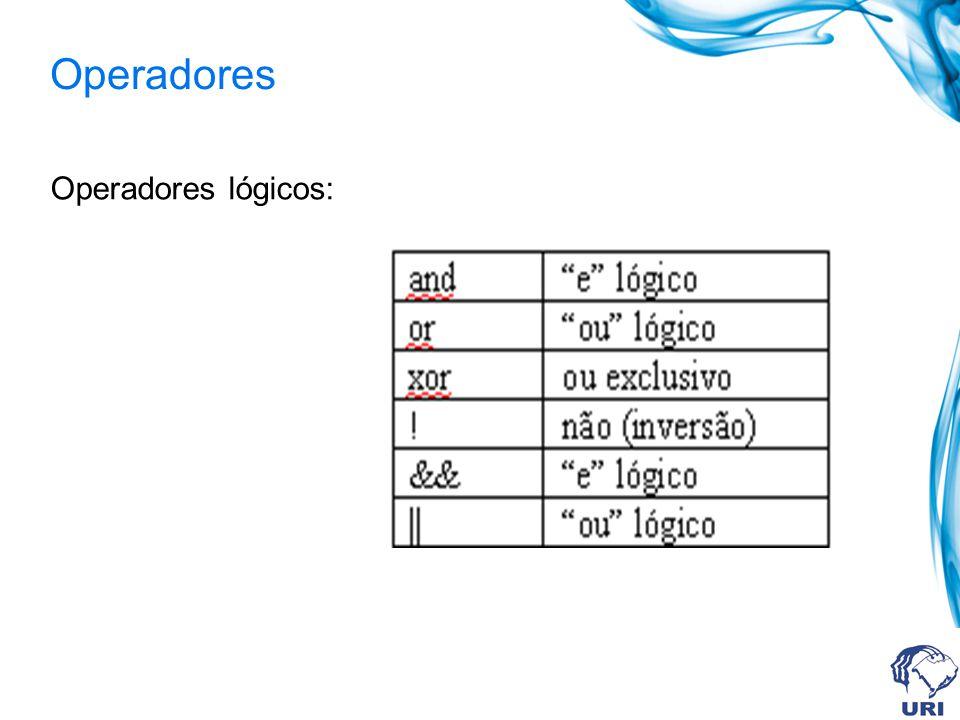 Operadores Operadores lógicos: 44