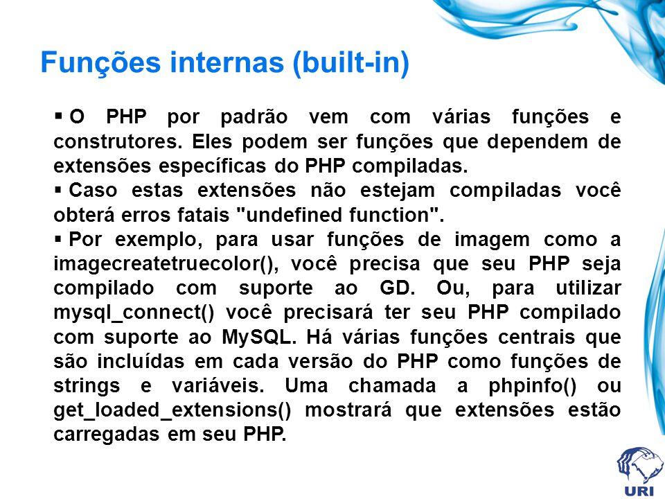 Funções internas (built-in)