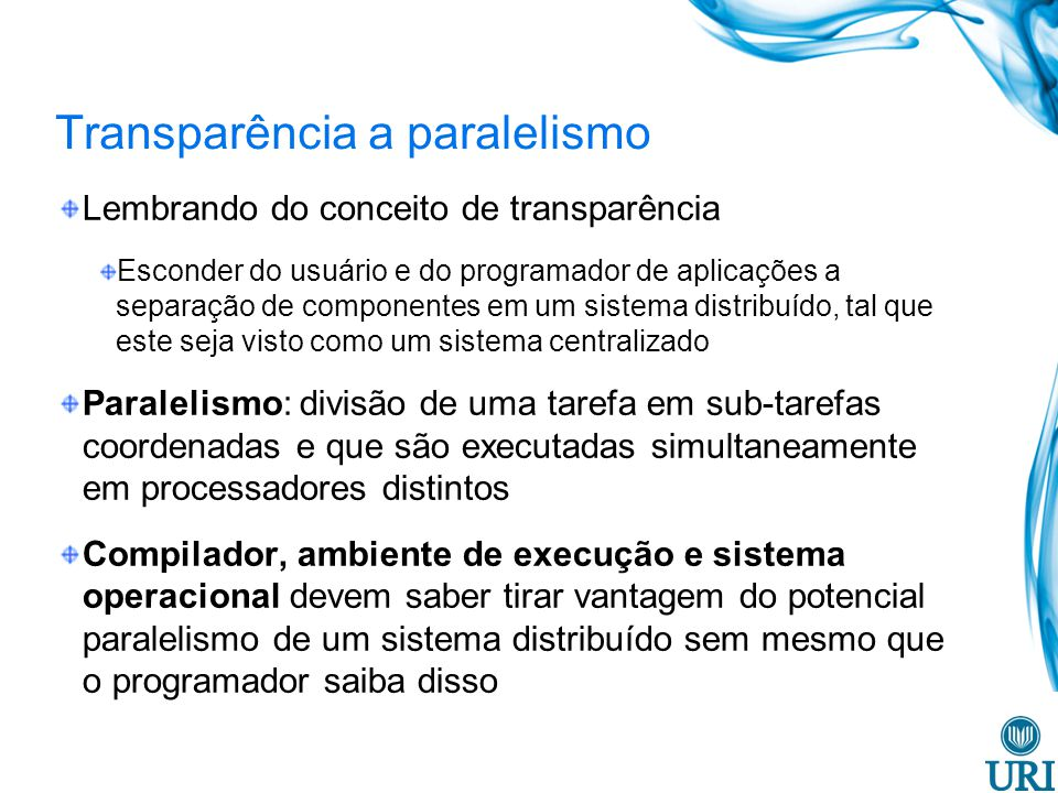Transparência a paralelismo