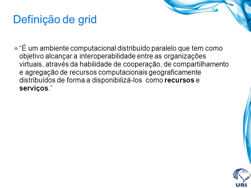 Definição de grid