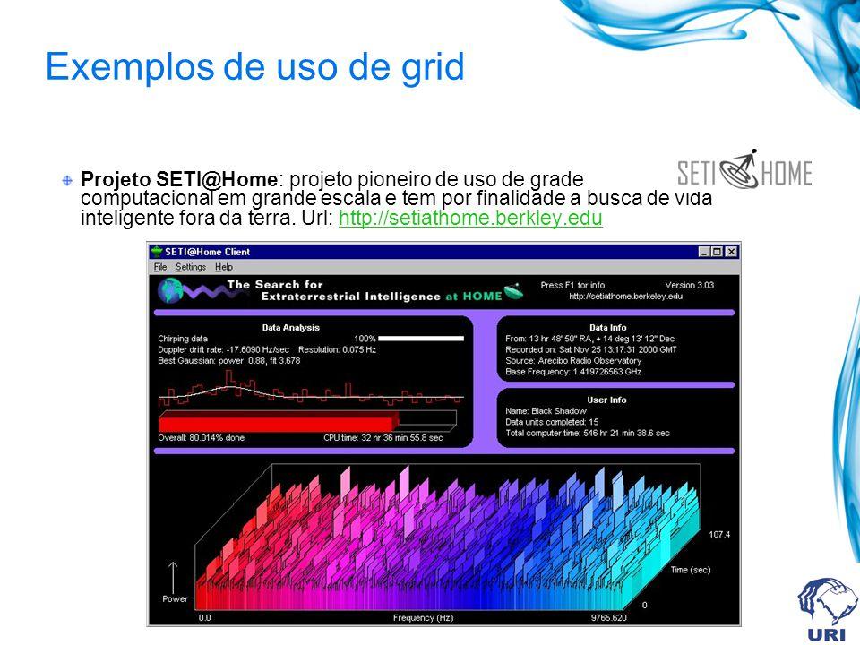 Exemplos de uso de grid