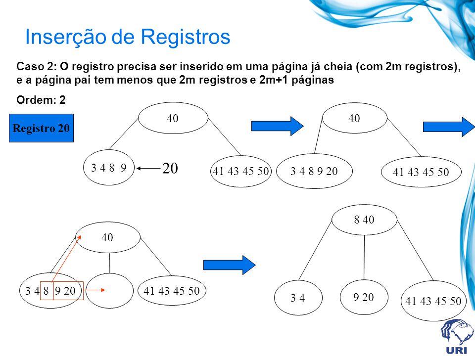 Inserção de Registros