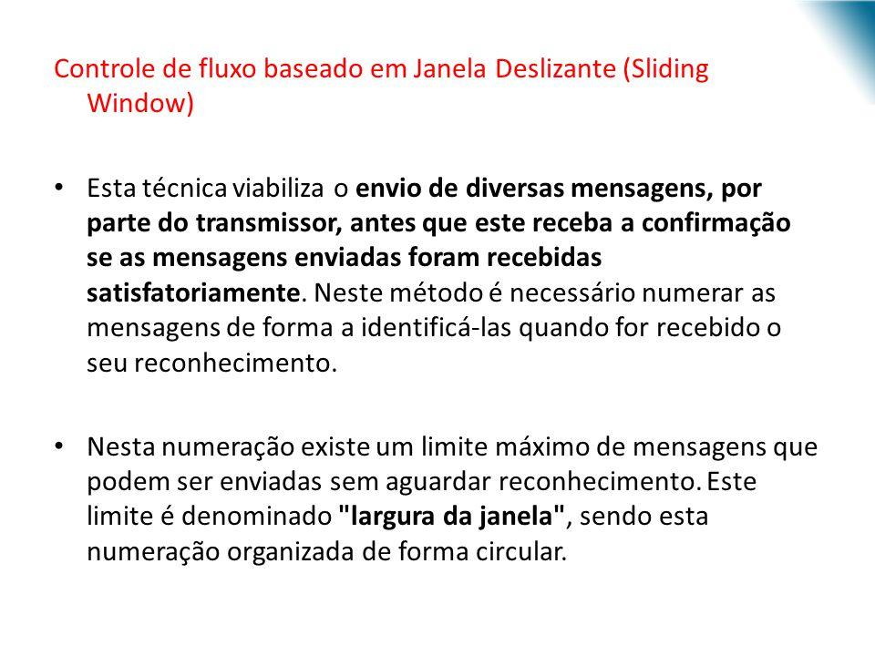 Controle de fluxo baseado em Janela Deslizante (Sliding Window)