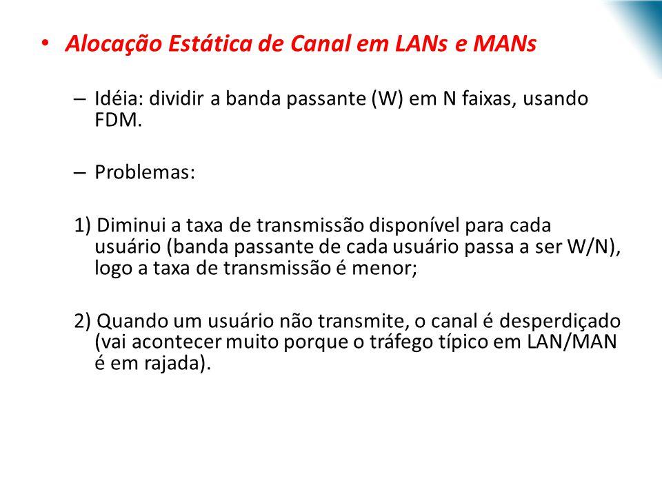 Alocação Estática de Canal em LANs e MANs