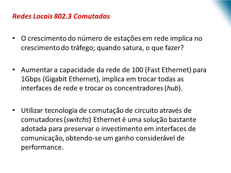 Redes Locais 802.3 Comutadas
