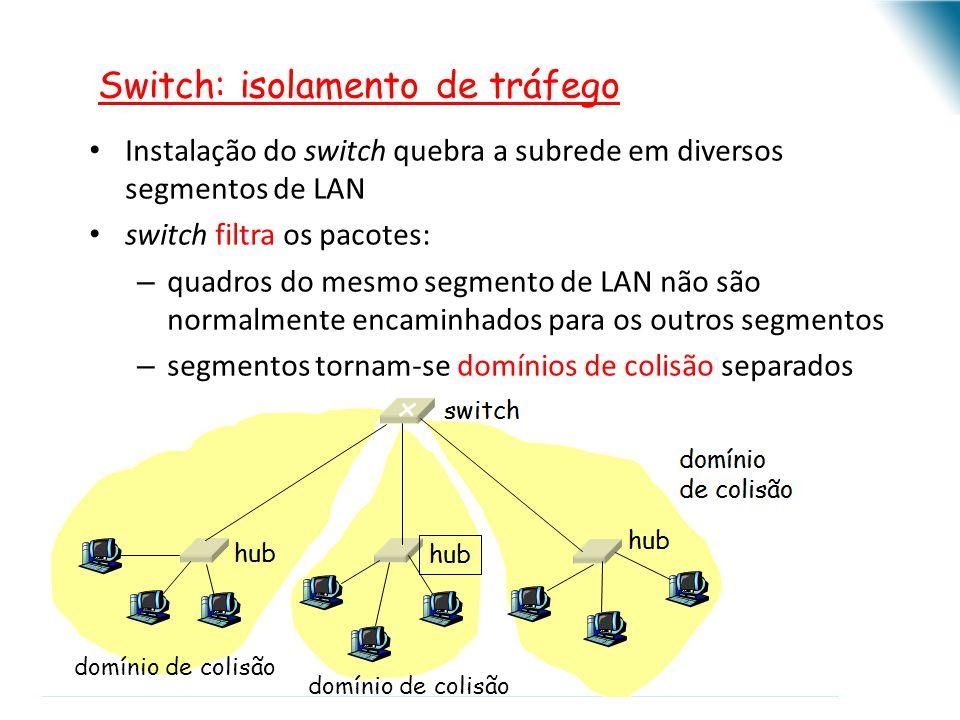 Switch: isolamento de tráfego