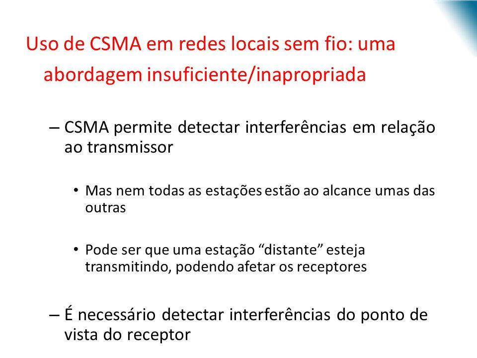 Uso de CSMA em redes locais sem fio: uma abordagem insuficiente/inapropriada