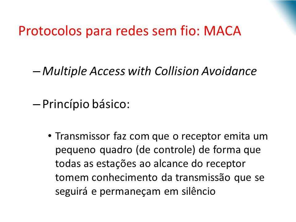Protocolos para redes sem fio: MACA