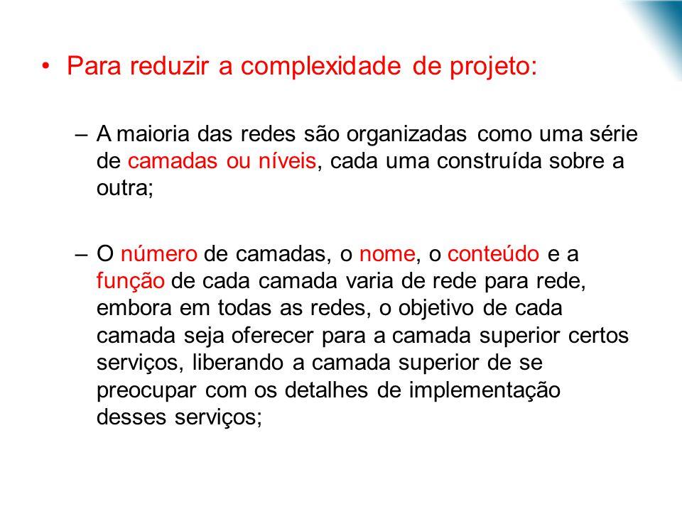 Para reduzir a complexidade de projeto:
