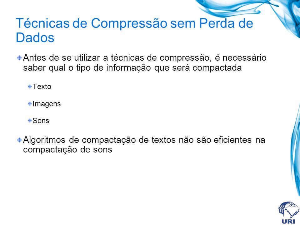 Técnicas de Compressão sem Perda de Dados