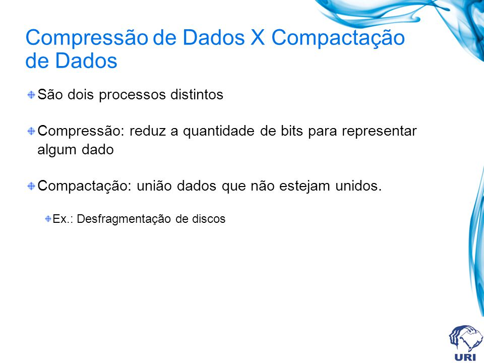 Compressão de Dados X Compactação de Dados