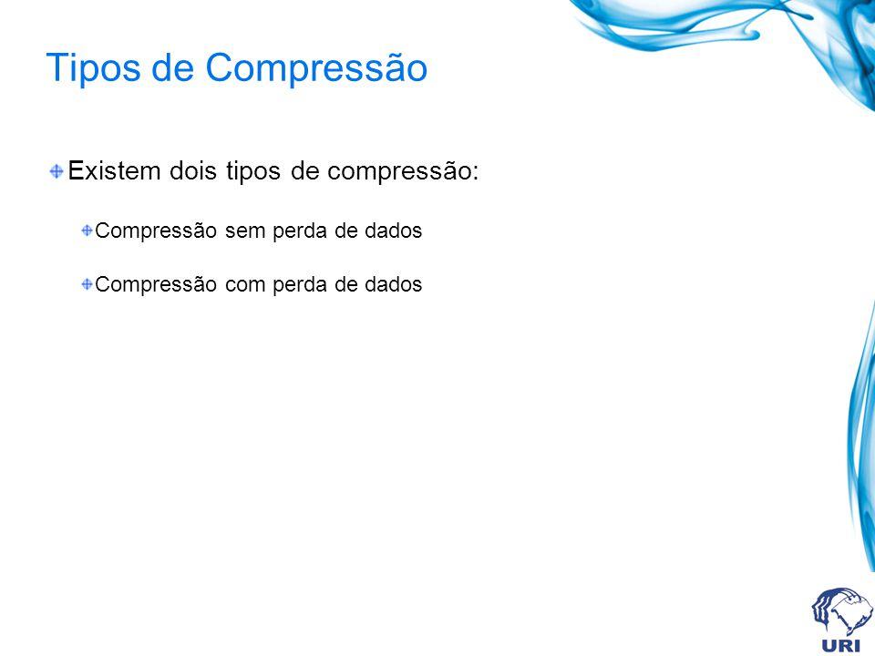 Tipos de Compressão Existem dois tipos de compressão: