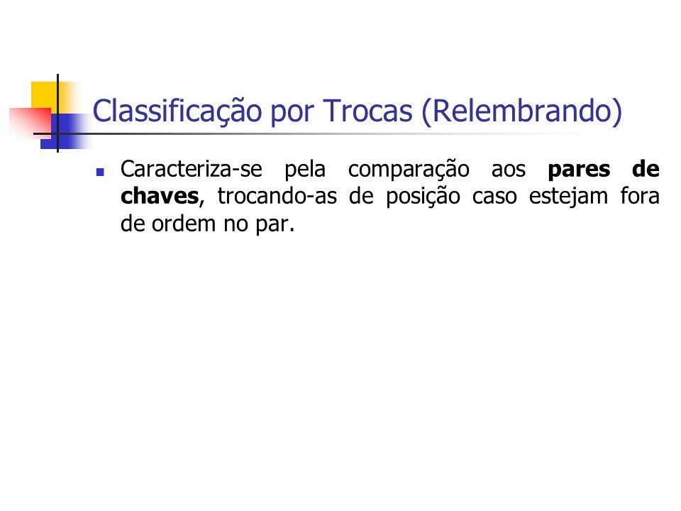 Classificação por Trocas (Relembrando)