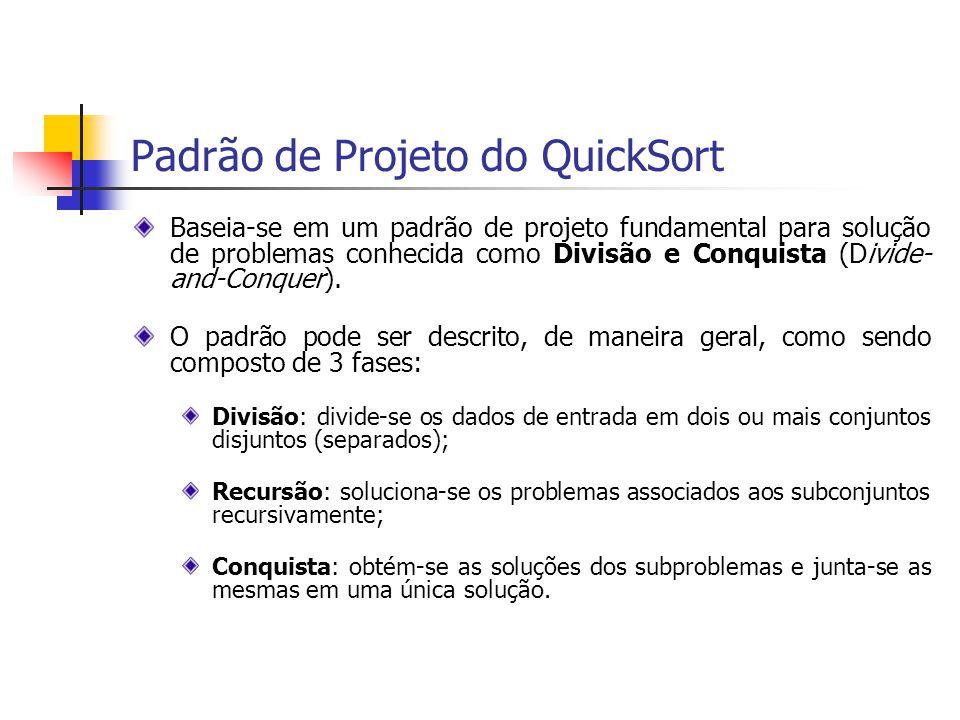 Padrão de Projeto do QuickSort