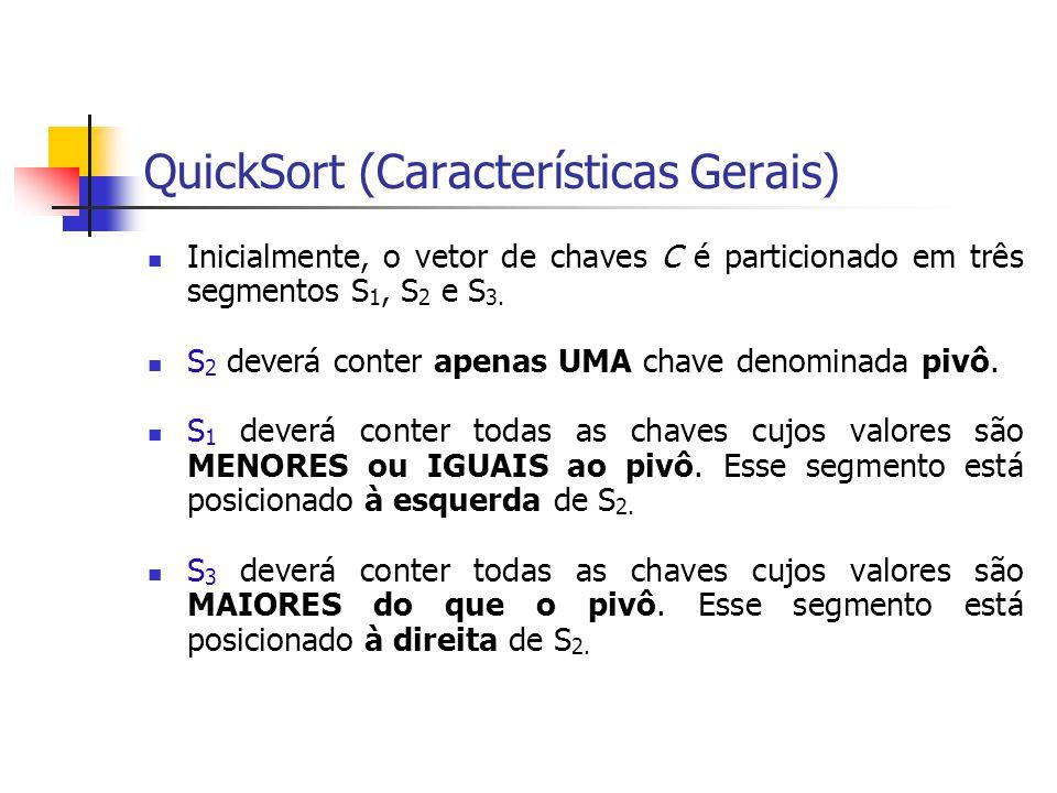 QuickSort (Características Gerais)