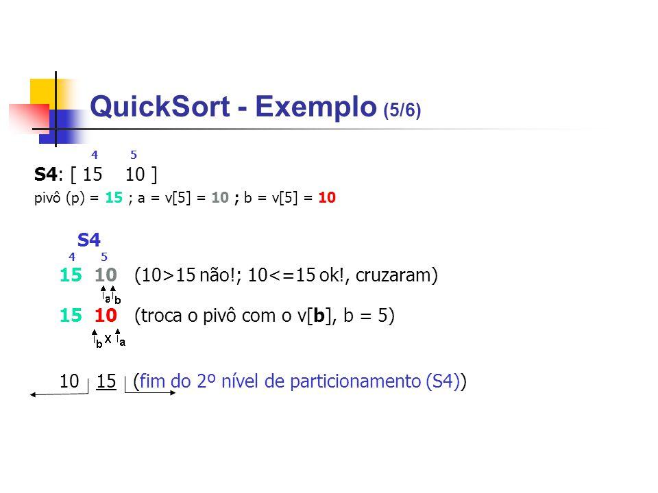 QuickSort - Exemplo (5/6)