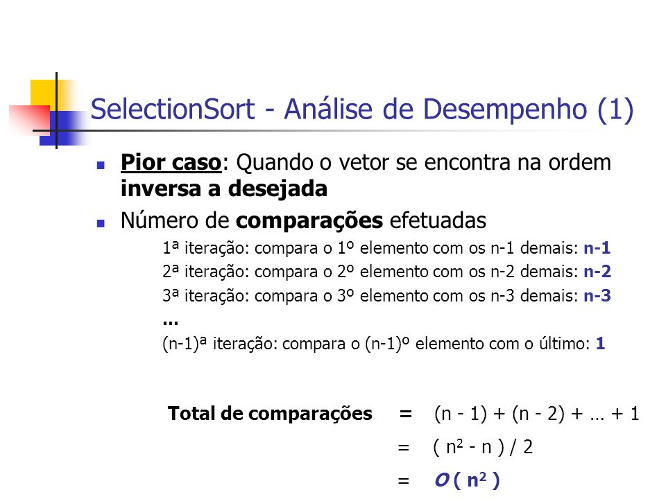 SelectionSort - Análise de Desempenho (1)