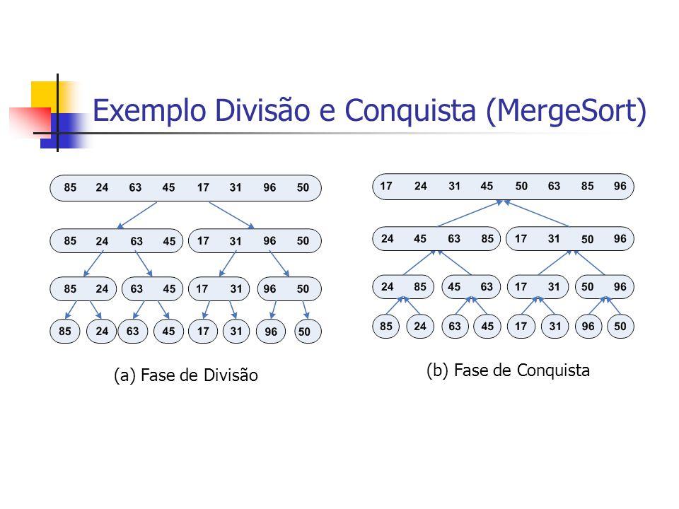 Exemplo Divisão e Conquista (MergeSort)
