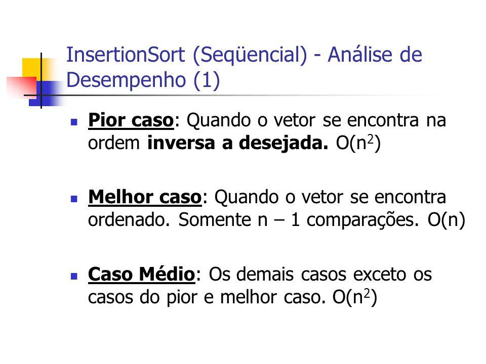 InsertionSort (Seqüencial) - Análise de Desempenho (1)