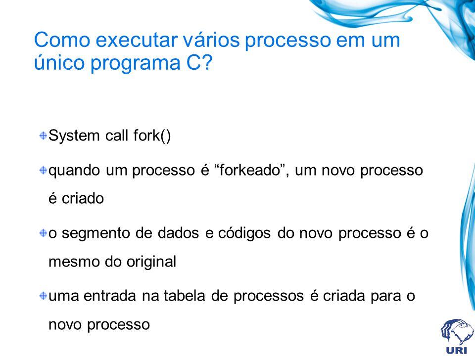 Como executar vários processo em um único programa C