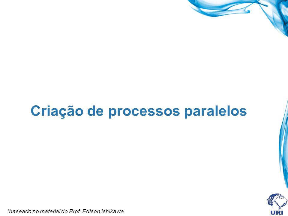 Criação de processos paralelos