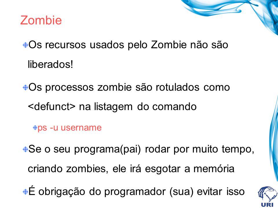 Zombie Os recursos usados pelo Zombie não são liberados!