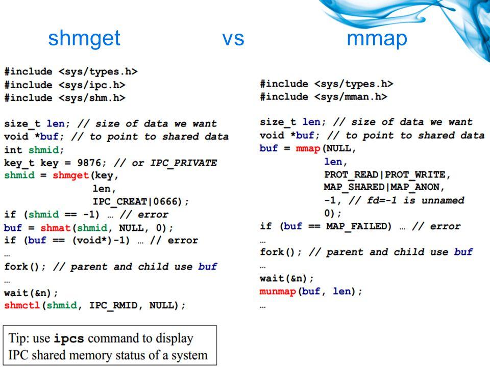 shmget vs mmap