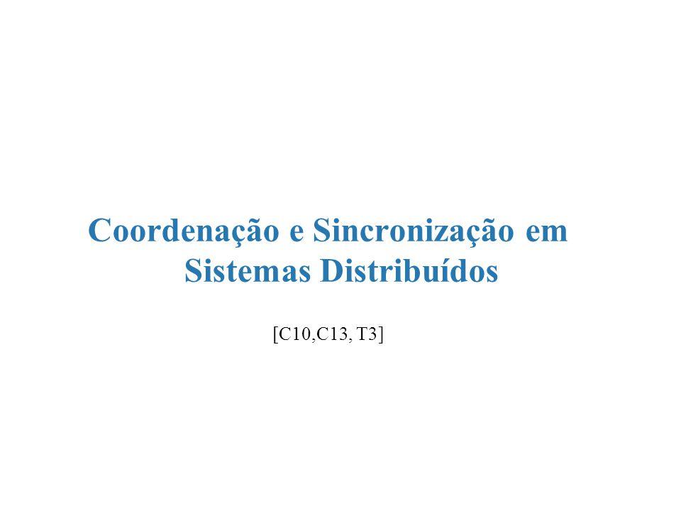 Coordenação e Sincronização em Sistemas Distribuídos