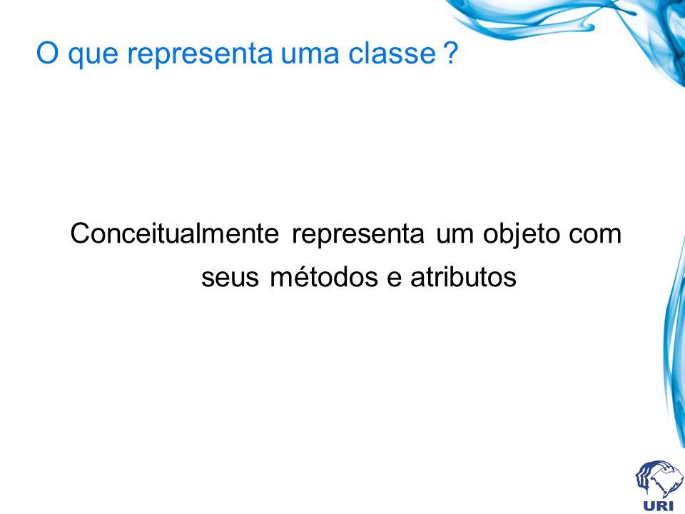 O que representa uma classe