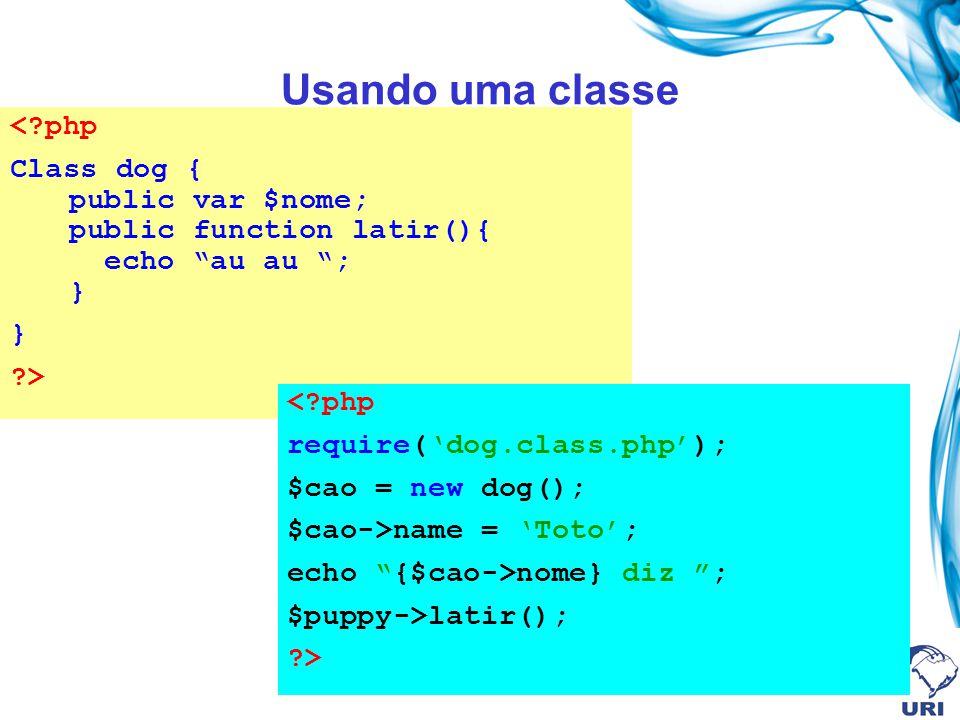 Usando uma classe < php