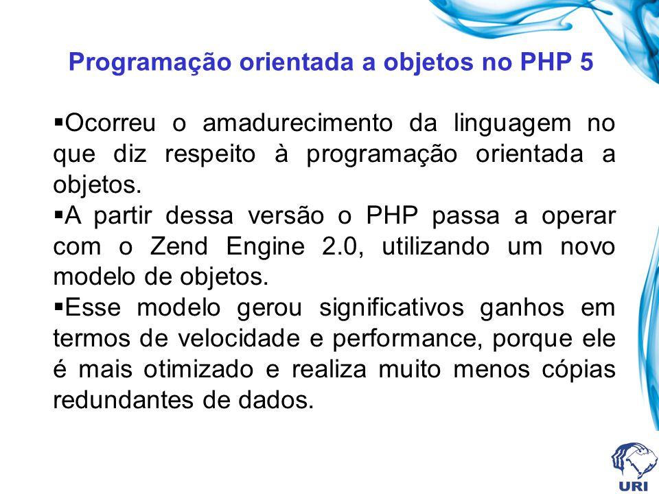 Programação orientada a objetos no PHP 5