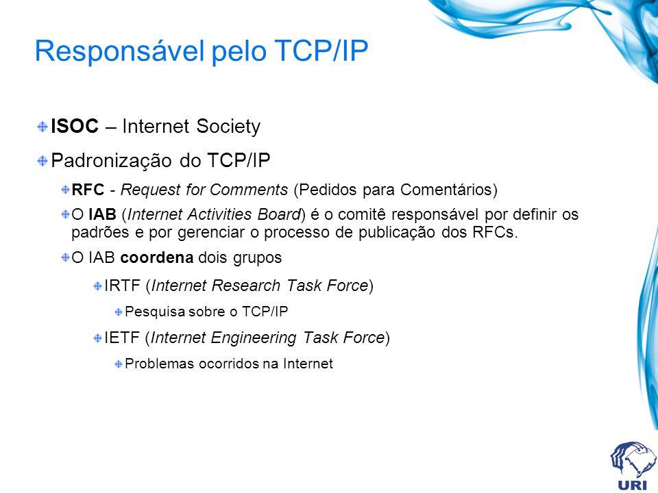 Responsável pelo TCP/IP