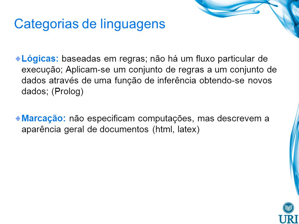 Categorias de linguagens