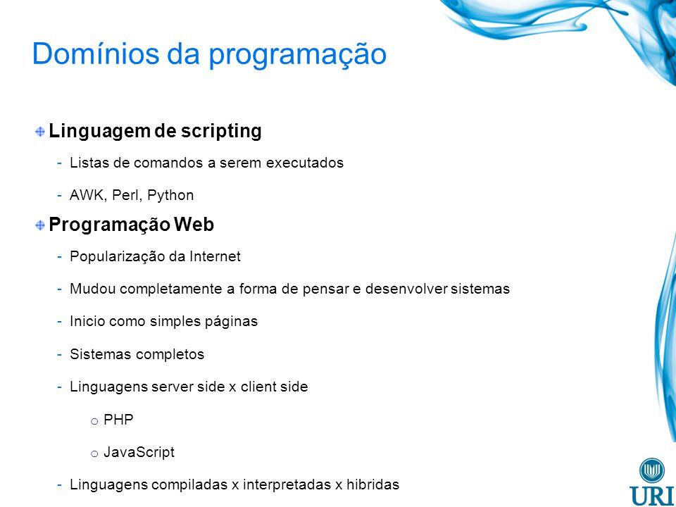 Domínios da programação