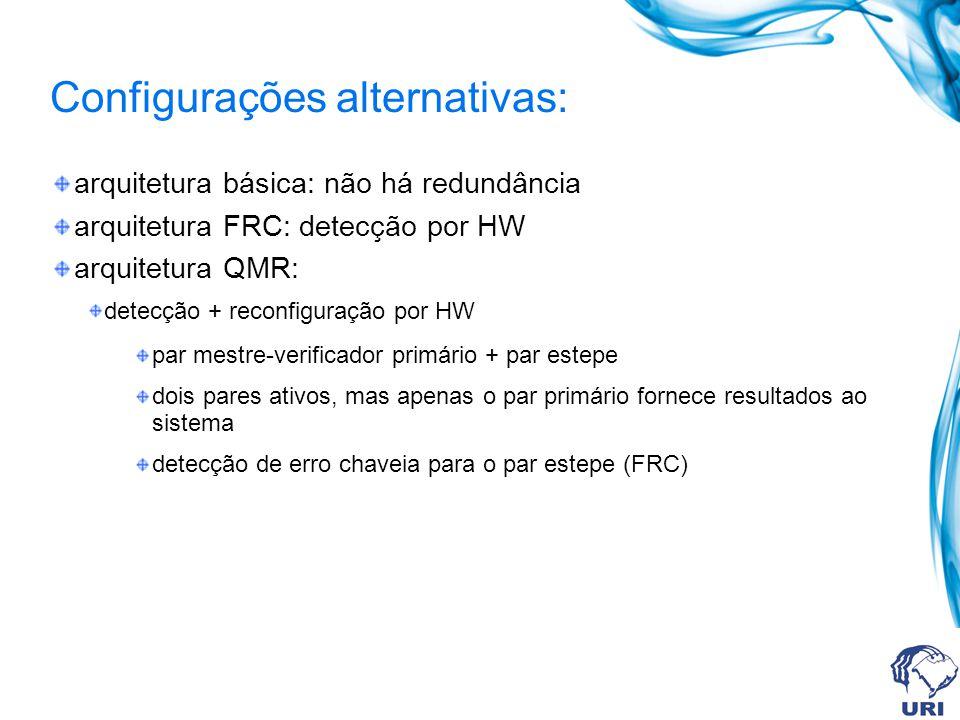 Configurações alternativas: