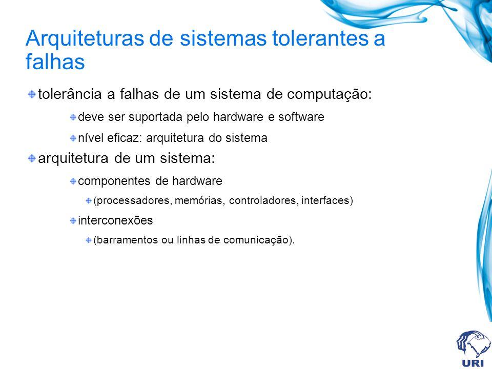 Arquiteturas de sistemas tolerantes a falhas
