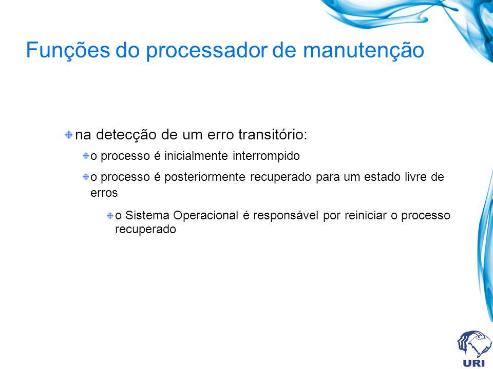Funções do processador de manutenção