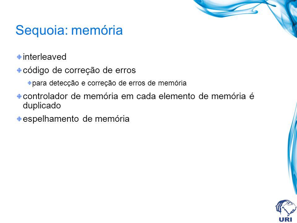 Sequoia: memória interleaved código de correção de erros