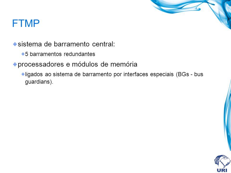 FTMP sistema de barramento central: processadores e módulos de memória
