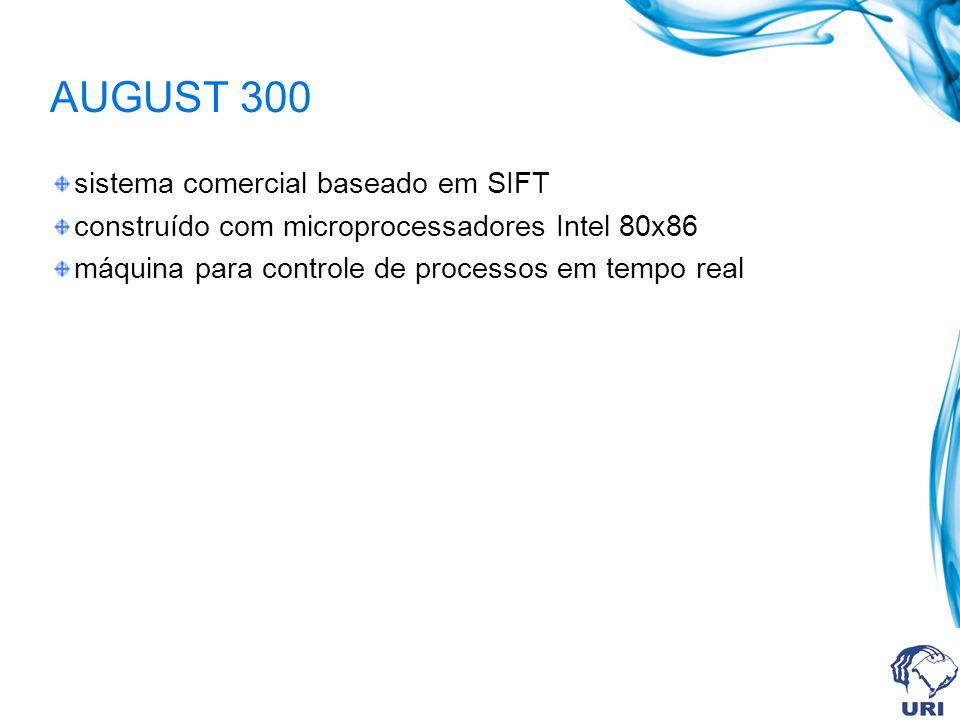 AUGUST 300 sistema comercial baseado em SIFT