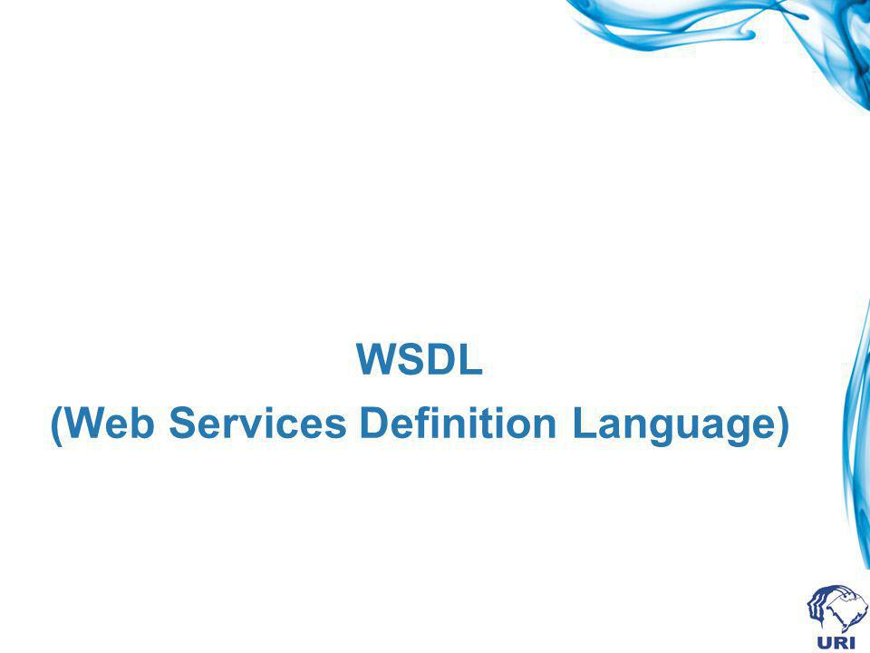 (Web Services Definition Language)